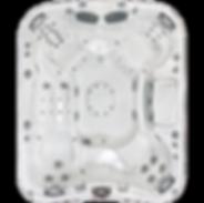 white and silver Sundance Spa 880 series Maxxus hot tub