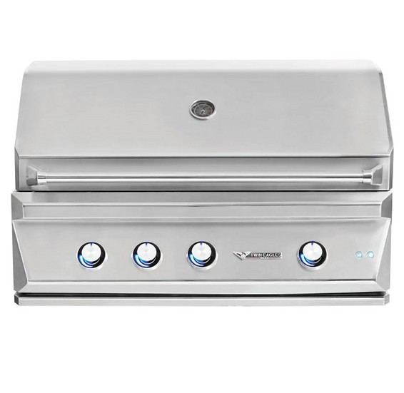 """42"""" 3-Burner Built-In Natural Gas Grill with Sear Zone & Infrared Rotisserie"""
