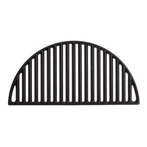 Half-circle shaped black cast iron grate for Kamado Joe grill