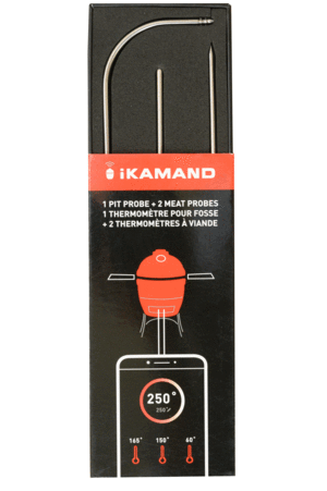 Black and orange packaging for iKamand metal probing accessories