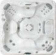 White marble and silver Sundance Spa 780 series Chelsee hot tub