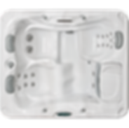 White marble and silver Sundance Spa series 780 Dover hot tub