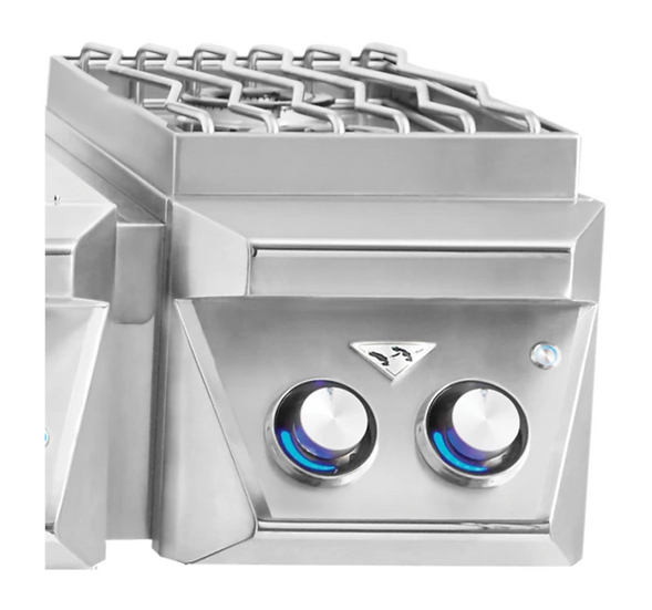 "13"" Freestanding Grill Attachment Double Side Burners"