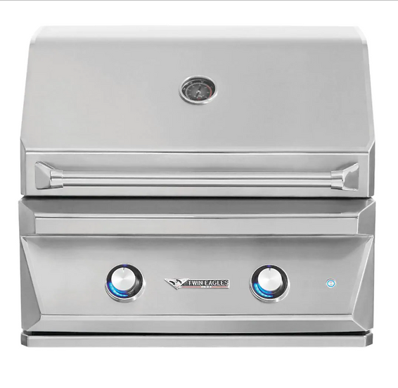 "30"" 2-Burner Built-In Natural Gas Grill with Sear Zone & Infrared Rotisserie"