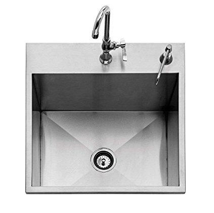 "24"" Twin Eagles Outdoor Sink with S/S Cover"