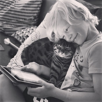 Amaryllis with Gus.jpg