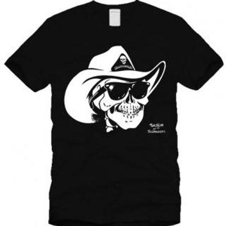 Too Slim Cowboy Skull T
