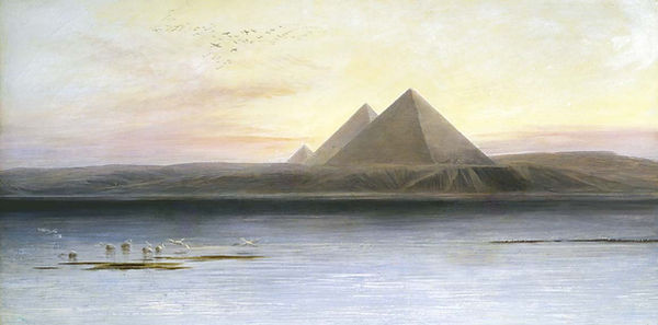 La pintura de las pirámides