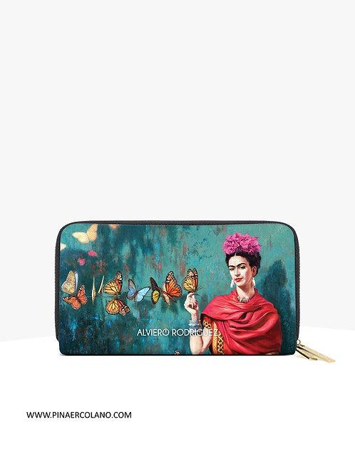 Portafoglio donna double zip around  - Alviero Rodriguez Frida Butterfly