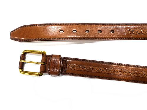Cintura uomo in cuoio 3,5 cm  con intreccio - The Bridge