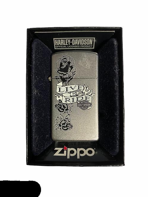 Accendino Zippo Originale a benzina ricaricabile -Live to Ride HD