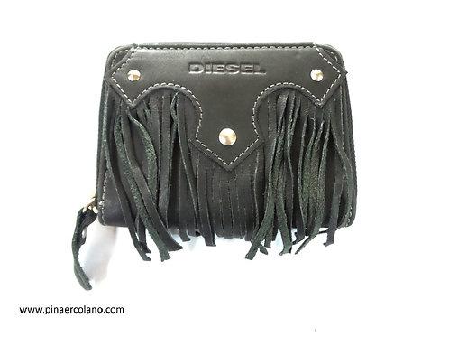 Portafoglio Donna Piccollo con frange zip around  Diesel - Nero