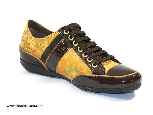 Sneaker in pelle e vernice Donna Alviero Martini Classe Geo Classic