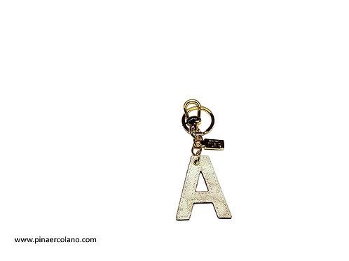 Portachiavi lettere Alviero Martini Prima Classe Geo Bianco