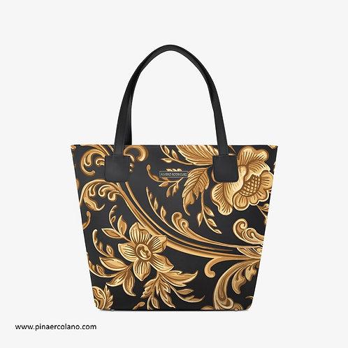 Borsa Shopping  - Deluxe - Alviero Rodriguez - Barocco - Nero