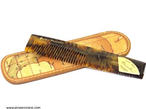Pettine e Custodia da Borsa | Alviero Martini 1^ Classe Geo | 15 x 5 cm
