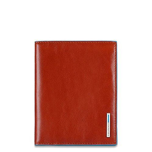 Porta Passaporto in pelle - Blue Square - Piquadro