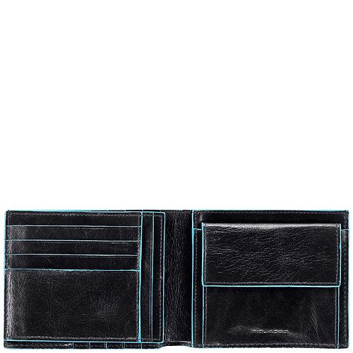 Portafoglio uomo in pelle con monete - Blue Square Piquadro