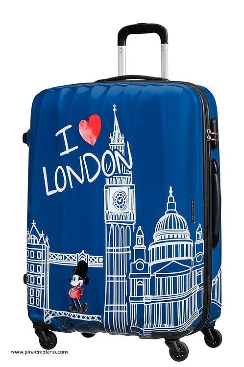 Trolley 4 Ruote 65 cm Disney Legends - Take Me Away Mickey London - American Tou