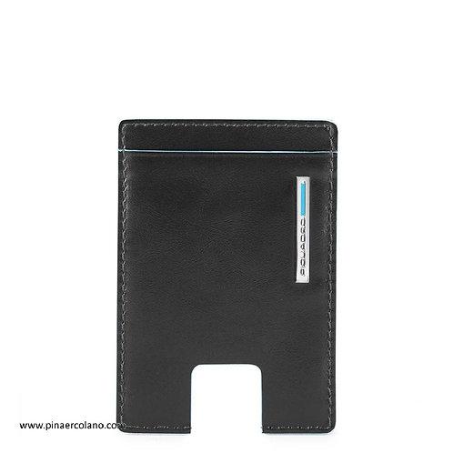 Porta carte di credito con estrazione facilitata RFID - Blue Square - Piquadro