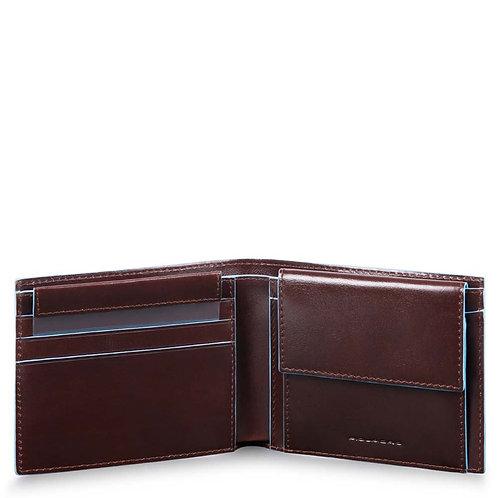 Portafoglio uomo con portamonete, porta carte di credito Blue Square - Piquadro
