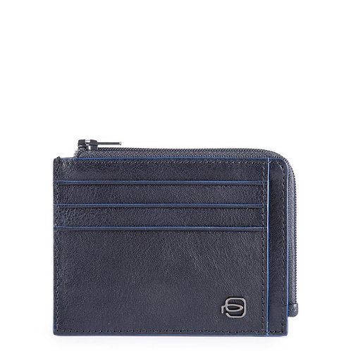 Bustina porta documenti con cerniera  RFID - Blue Square Special Piquadro