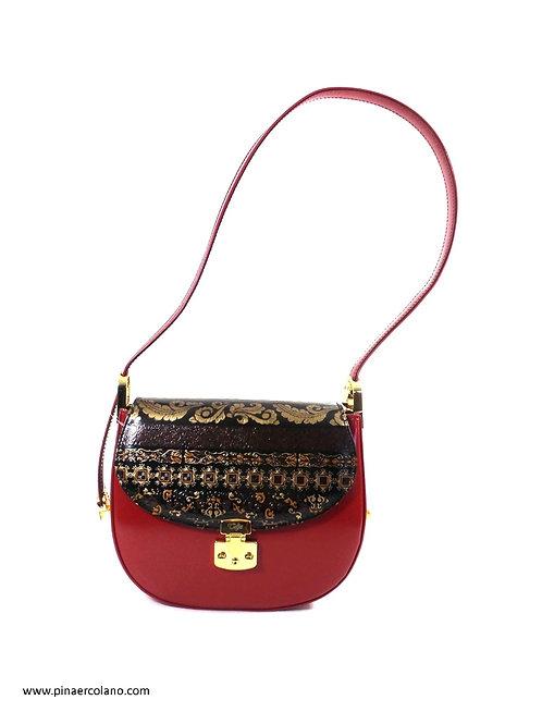borsa a Tracolla piccola Talja Bags Classico  Damascato  - Rosso