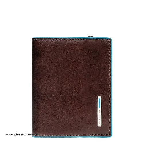 Porta carte di credito a libro con elastico Piquadro Blue Square