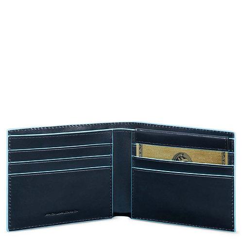 Portafoglio uomo con portadocumenti rimovibile- RFID - Blue Square Piquadro