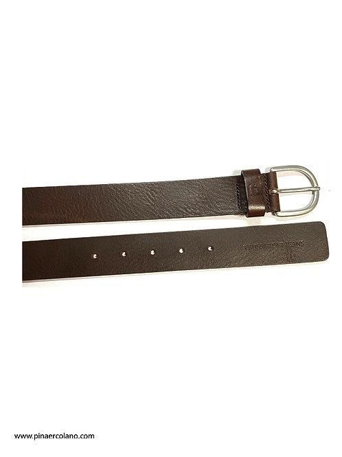 Cintura Uomo - Trussardi Jeans - Cm 3,5 - Mis. cm 115 - Testa Di Moro
