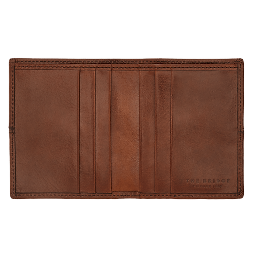 Porta carte di credito a libro in pelle - Vespucci - The Bridge