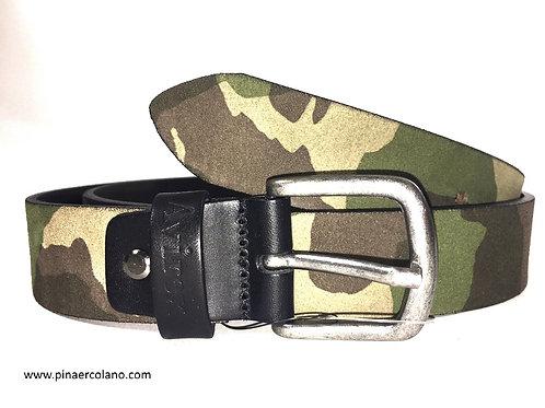 Cintura Uomo in pelle 3,5 cm Avirex Mimetico