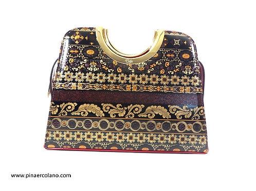 Borsa a Mano Talja Bags Classico  Damascato 11038 - Rosso