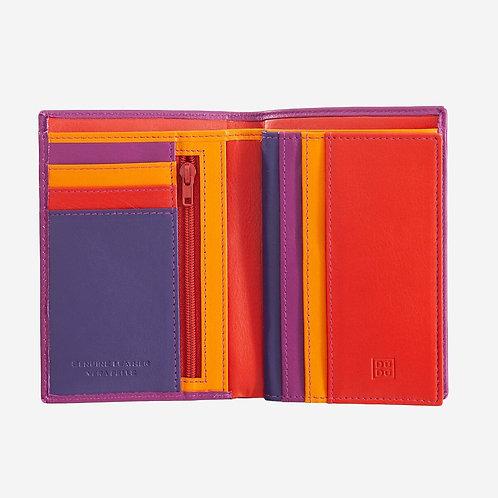 Portafoglio verticale unisec pelle colorata - Tiberio - Dudubags