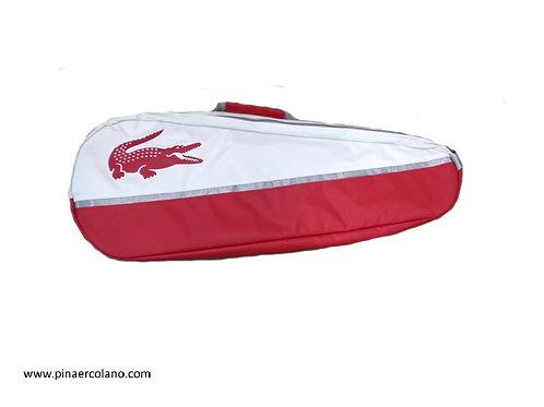 Borsone doppio Tennis - Sport Active 4 - Lacoste - Bianco / Rosso