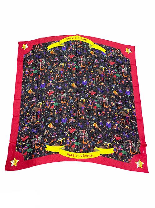 Foulard Maxi - Piero Guidi -  Magic Circus  106 x 106 cm Chiffon di seta