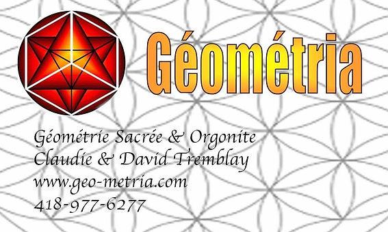 Géométria vous propose un nouveau type d'outils de transformation, ce sont des formes géométriques en métal et en orgonite à trois dimensions tirées de la géométrie sacrée.