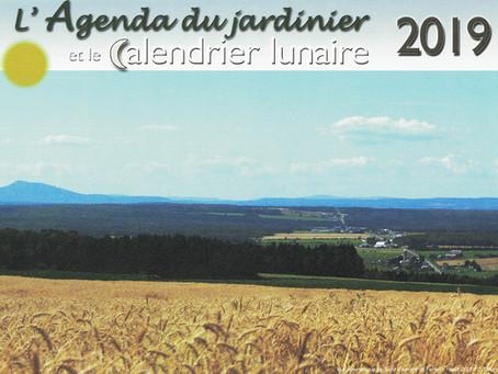 Calendrier du Jardinier 2019!