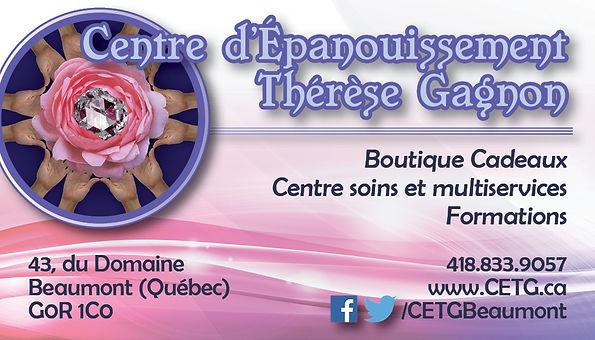 Bienvenue au Centre d'Épanouissement Thérèse Gagnon, un lieu où l'on prend soin autant du corps que de l'esprit! Un rendez-vous pour votre croissance et votre bien être.
