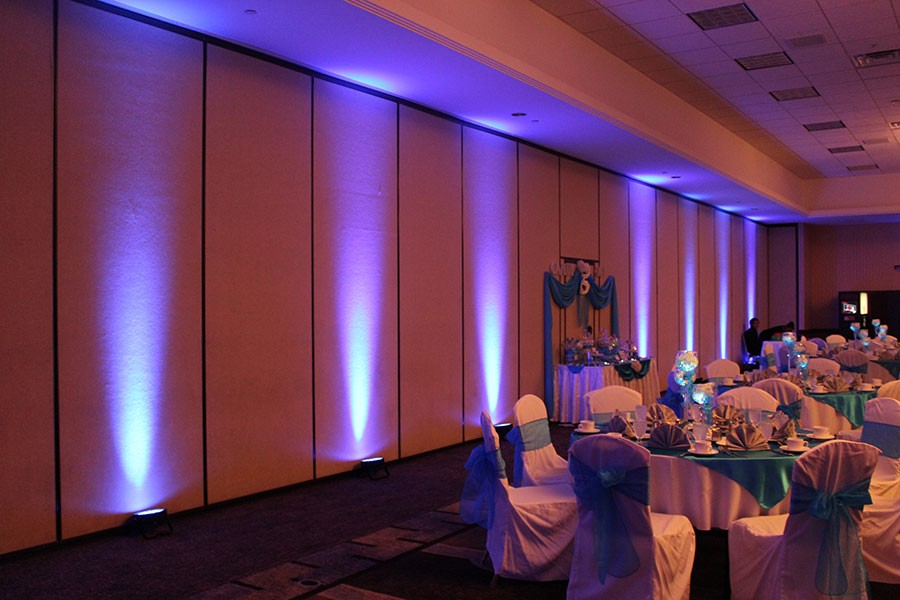 Dark Blue LED Wireless Uplighting