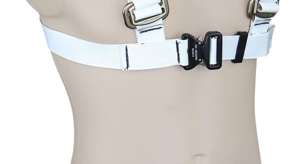 White PVC Chest Restraint Harness - Quick Release Chest Strap