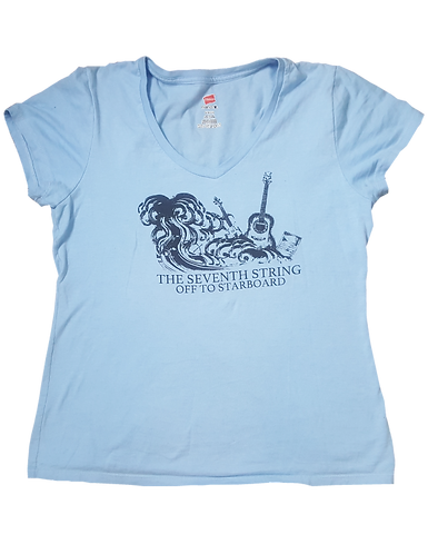 Off to Starboard T-shirt (Women's V Neck)