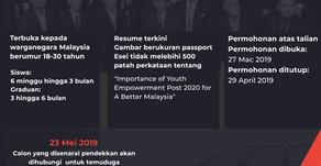 PROGRAM FELO PERDANA DAN FELO KORPORAT TAHUN 2019 KEPADA PELAJAR MALAYSIA LUAR NEGARA