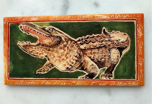 Louisiana Gator tile