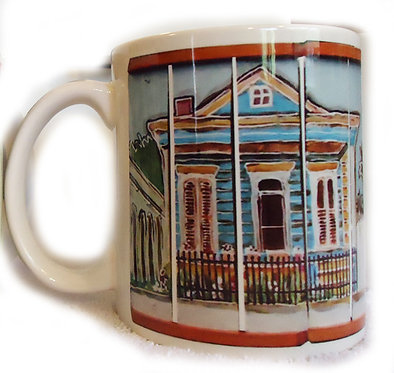 New Orleans cottage coffee cup