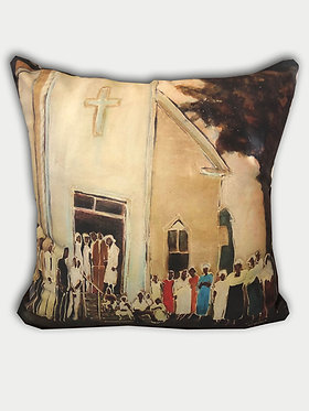Early to church pillow
