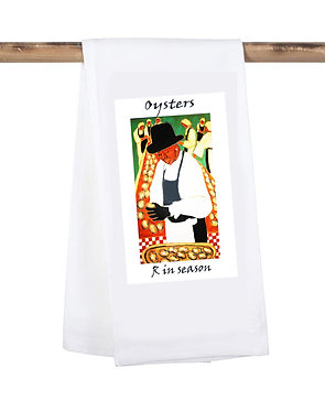 Oysters are in season Kitchen towel