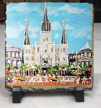 French Quarter Festival- slate tile with easel