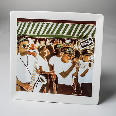 "Second Line - Serving platter 14"" x 14"""