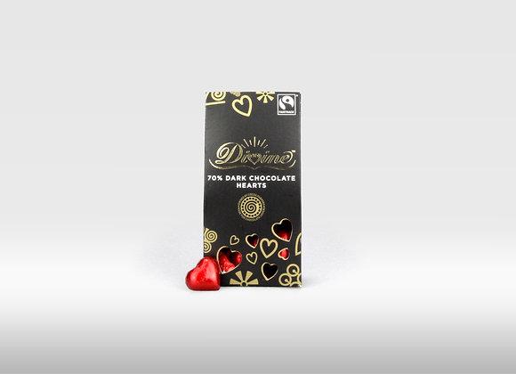 Divine - 70% Dark Chocolate with Heart Shape